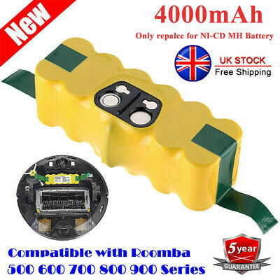 Battery For IRobot Roomba 500 600 700 800 595 620 630 650 660 790 780 880 4.0Ah • 16.99£