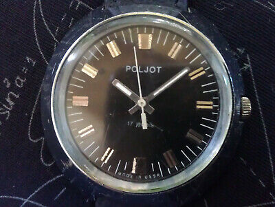 Rare Vintage USSR Poljot 2609.H 17 Jewels Mechanical Men's Russian Wristwatch • 12.50£
