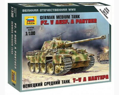AU10 • Buy Zvezda Models 1/100 (Snap-Fit) WWII German Medium Tank Pz.Kpfw.V Panther Ausf.A