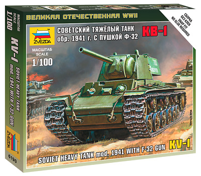 AU9 • Buy Zvezda Models 1/100 (Snap-Fit) Soviet Heavy Tank KV-1 Mod.1941 With F-32 Gun