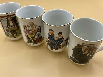 $ CDN19.98 • Buy (3) Norman Rockwell Museum 1982 Porcelain Mugs & (1) Saturday Evening Post Cup