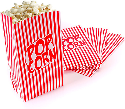 Popcorn Boxes Bags Movie Hollywood Birthday Party Cinema Treat Paper Bags 10 Pk • 2.99£