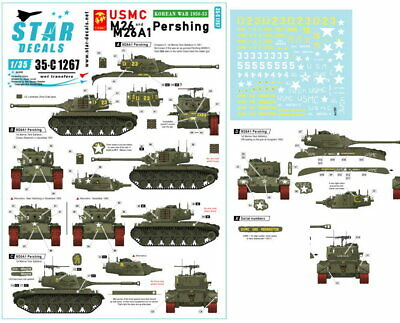 $10.85 • Buy Star Decals For 1/35 USMC M26/M26A1 Pershing. Marine Corps In Korea 1950-53.