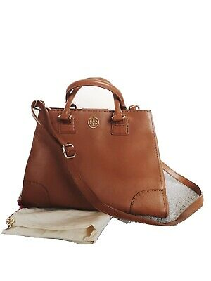 Tory Burch Leather Tan Top Handle Bag With Shoulder Strap Rrp £360 • 80£