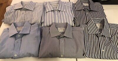 "Job Lot Of 6 TM Lewin Long Sleeved Shirts 16.5 Inch Neck 33"" Sleeve, French Cuff • 2.50£"