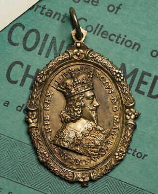 Charles I And Henrietta Maria Gilt Royalist Supporters Badge • 3,500£