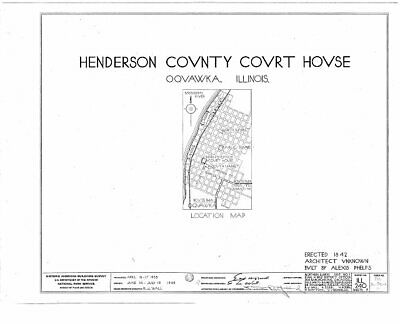 $ CDN15.55 • Buy Henderson County Courthouse,4th & Warren Streets,Oquawka,Henderson County, 6821