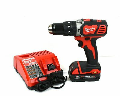 Milwaukee 2607-20 M18 V18 Compact 1/2 In Hammer Drill W/ 1.5Ah Battery & Charger • 100.58£