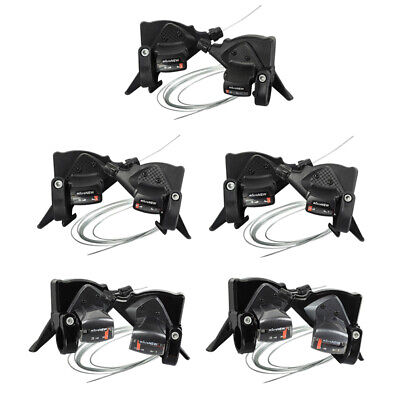 AU22.13 • Buy MicroNEW 3 X 7/8/9/10/11 Speed Mountain Bike Shifter Set With Shift Cables