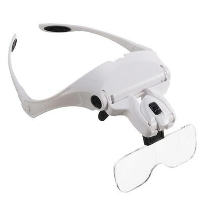 £13.99 • Buy Magnifying Glass Headset 2 LED Light Head Headband Magnifier 5 Lens With Box UK