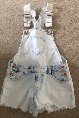 Girls Denim Dungarees Age 6-7 Years New Condition • 1.70£