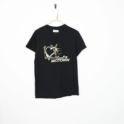 Vintage Music SOUL OF MOTOWN Graphic T Shirt Tee Black   Small S • 7.50£