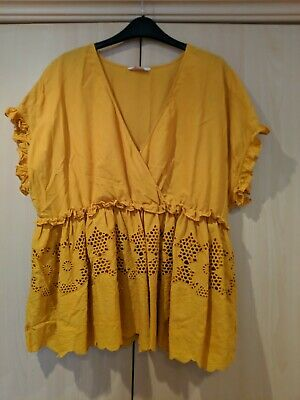 Size 18 Mustard Blouse Top • 1.30£