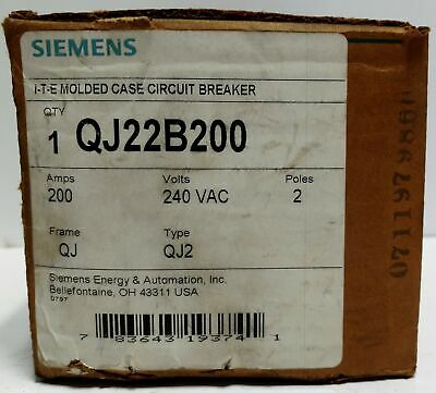 $ CDN444.35 • Buy Siemens QJ22B200 240VAC 200A Molded Case Circuit Breaker