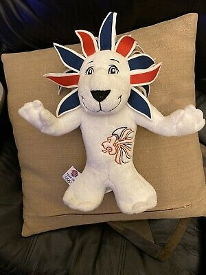 Pride The Lion Official 2012 London Olympics Team GB Mascot Plush Toy 30cm • 5£