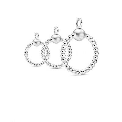 Moments 925 Pavé O Pendant Bead Sterling Silver Charm Fiit Pandora Necklace NEW • 22.89£