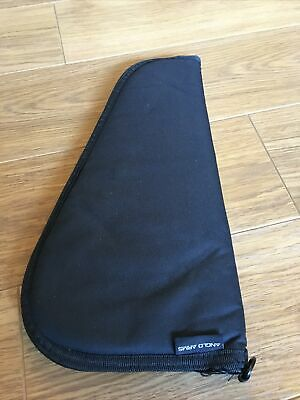 """Anglo Arms Canvas Padded Pistol Case 15"""" Black Powder Air Soft BB Revolver • 5£"""