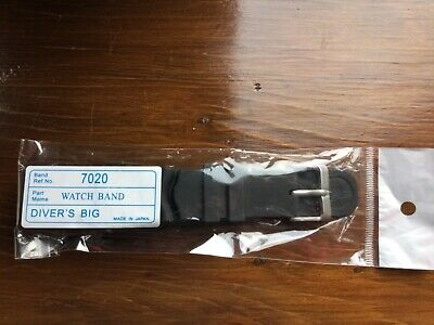 NEW WAVE VENT Z22 FOR 22mm SEIKO DIVERS WATCH REPLACEMENT RUBBER STRAP 6309 Etc • 9.99£