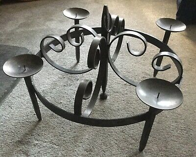 Wrought Iron Four Candle Chandelier • 300£