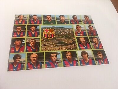 Barcelona Football Club -1973 - Squad & Stadium - Postcard - FREE POSTAGE • 3.99£