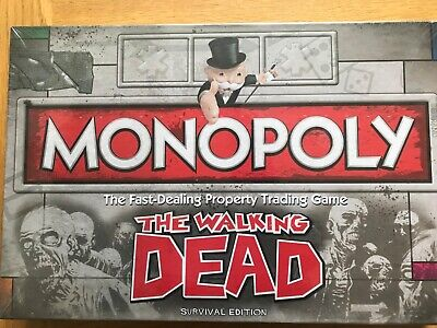 The Walking Dead Monoply Board Game New Unopened Zombie Hasbro 2013 • 9.99£