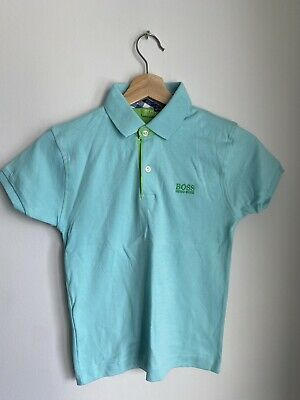 Boys Hugo Boss Polo Shirt. Blue. Size 4-5 Years. New With Tags • 10.50£