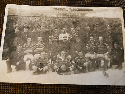 WWI RPPC British Soldiers Football Team - France, January 1918 • 2.99£