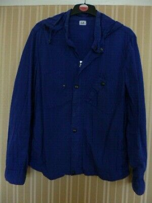 Cp Company Man's Goggle Jacket Used Size Xl Lightweight Blue • 55.55£