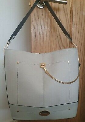 River Island White And Light Gray Large Tote Bag • 25£