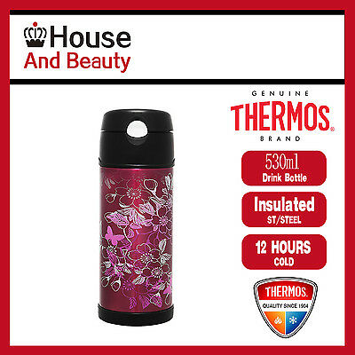 AU29.99 • Buy NEW Thermos S/Steel Vacuum Insulated Hydration Drink Bottle 530ml Floral Magenta