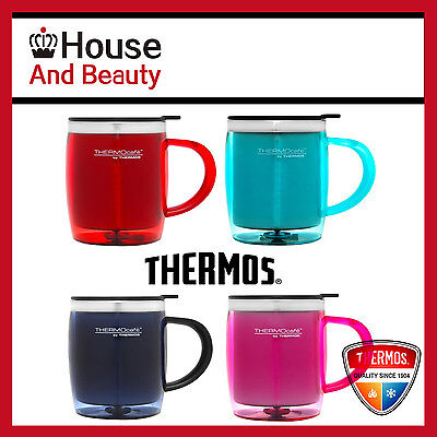 AU19.65 • Buy NEW Thermos Plastic Outer Desk Mug 450 Ml S/Steel Insulated Interior