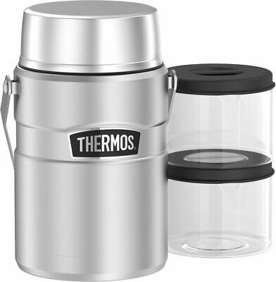 AU74.99 • Buy New Thermos Stainless King Big Boss Insulated Stainless Steel Food Jar 1.39 Ltr