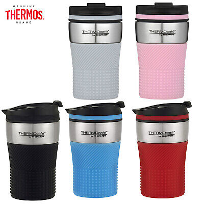 AU24.99 • Buy New THERMOS ThermoCafe Vacuum Insulated Travel Cup 200ml Coffee Cup Black Red