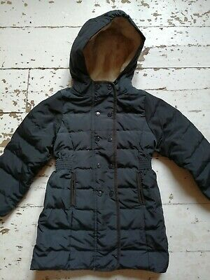Petit Bateau Girls Black Feather/down Coat, Age 5. Excellent Condition. • 9.99£