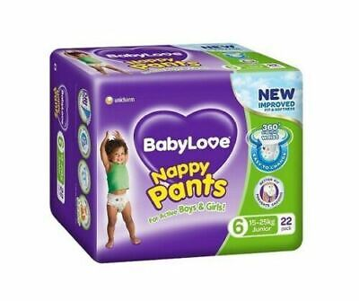 AU34.45 • Buy BabyLove Nappy Pants Junior (15 To 25kg) X 22 (Limit 2 Per Order)