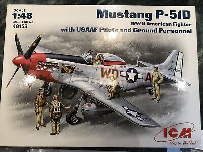 1/48th ICM Mustang P51D With Pilot Options And Crew • 9.70£