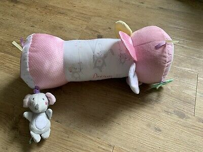 Baby Girls Mothercare Confetti Party Tummy Time Roller, Pillow, Soft Toy • 1£