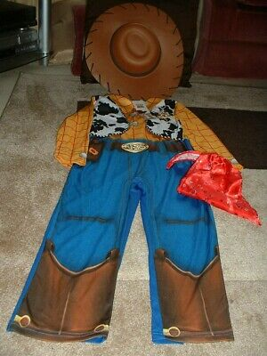 Disney Toy Story Woody Outfit With Hat 5-6 Yrs • 14.99£