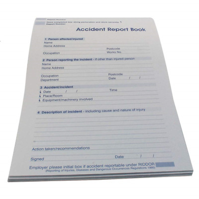 Wallace Cameron Accident Report Book Small A5 Ref 5401009 • 3.58£