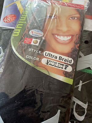 XPRESSION ULTRA BRAID Pre-Pulled Hair Extension 1x Pack Violet F Colours • 3.50£