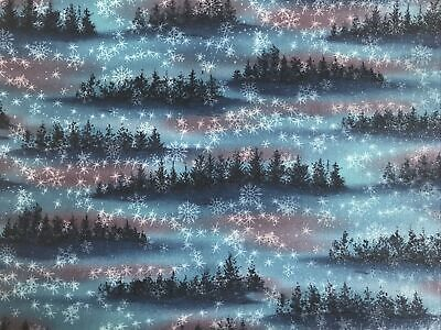 Almost .95cm Of Hoffman Fabric - Sparkly Trees • 2.70£