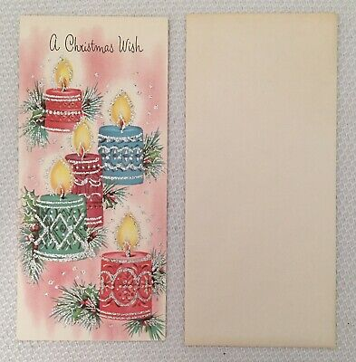 $ CDN9.99 • Buy Vintage Holiday Christmas Card With Envelope, Embossed & Glittered