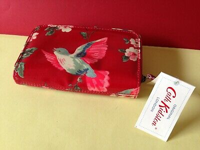 BNWT Cath Kidston New Zip Purse Wallet Red Garden Birds With Tag RRP £28 • 14.99£