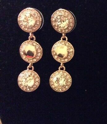 Rose Pandora Drop Earrings New With Pouch • 45£