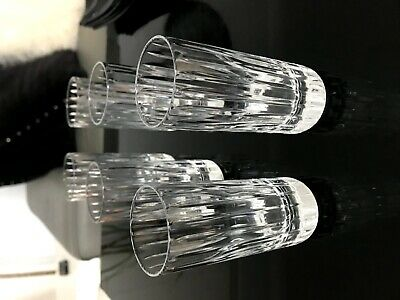 Baccarat Crystal HARMONIE Happy Hours Tumblers, Pair, Mint In Box • 100£