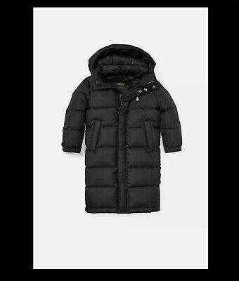 POLO RALPH LAUREN Black Long Duck Down Filled Girls Coat Age 7yrs • 42£