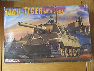 Dragon Models 6051 Jagd-Tiger Sd.Kfz.186 Porsche Production Type In 1:35 Scale • 34.99£