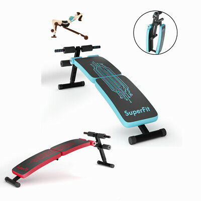 Adjustable Sit Up Bench Crunch Exercise Board Home Gym Abdominal Workout Machine • 49.99£