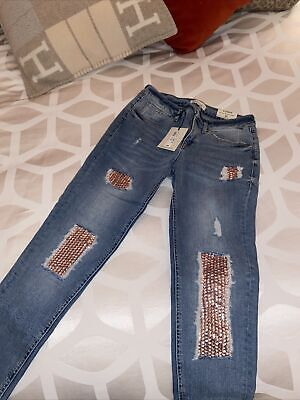 River Island Sequin Jeans 8R • 15£