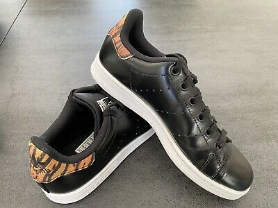 AU15.50 • Buy Adidas Stan Smith Black Size US 5 - Excellent Condition